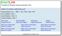 Discount code of SmartLink Trackback and Pingback Submitter Software,  	SmartLink Pingback and Trackback Submitter is a very powerful, easy to use lin