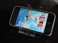 <p>The iPhone viewing stand is an exclusive accessory. It allows you to watch movies or browse websites with your hands free. For more relaxed movie watching, comfortable viewing, with a fully adjustable angle. Ideal for frequent travellers, put your iPone on a desk or airplane tray and watch movies without having to hold the iPhone.</p>