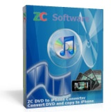 <p> 	ZC DVD to iPhone Converter is fast and easy-to-use copy DVD to iPhone converter software to help you convert DVD to iPhone MP4, iPhone H264, iPhone playable apple quicktime mov, copy DVD to iPhone with high quality. The iPhone DVD converter also supports converting DVD to iPhone audio mp3, m4a, wav, mp2. It is the best solution on how to copy DVD video and audio onto iPhone. With ZC DVD to iPhone Converter, you will be able to turn your iPhone into a portable theater, convert all your DVD video to iPhone movie and rip all your DVD audio track to iPhone music, enjoy DVD movies and DVD audio music on the go at anywhere anytime.</p>