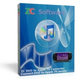 <p> 	ZC DVD to PSP Converter is not noly a fast and easy-to-use DVD Ripper program, but also a DVD Player, DVD Recorder, Audio Ripper program, which can play dvd, record the DVD movie you are watching, convert DVD title and chapter, rip DVD audio track, transcode to Sony PSP/PS3 movie and mp3 music format. It is the best solution on how to copy DVD movie video and DVD audio with small size and high quality to Sony PSP. The 1-click intuitive user interface design makes you copy DVD and rip dvd audio for your PSP easily, although don't know any basic knowledge, and you can upload and download PSP movies between Sony PSP Memory Stick and Computer station on the built-in Sony PSP movie manager. With ZC DVD to PSP Converter, you will be able copy DVD and convert DVD to Sony PSP/PS3 mpeg4 and mp3 music easily, and then enjoy your movie and music on the go anywhere anytime.</p>