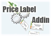 Price Label Addin for Microsoft Office Excel (1-Year Single License)