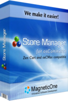 <p>Store Manager for osCommerce is a Windows application to quickly and effectively manage your osCommerce online store.   5 Store Manager for osCommerce killer features!  ... Copy & Paste products   ... Copy & Paste product attributes  ... Copy & Paste product attributes for multiple products at once!   ... Easy Product Attribute Editor (flash demo)   ... Quick and Easy osCommerce Product Import/Export   We are making osCommerce store management very easy and quick.  All this from your desktop computer - save your time, do not waste it with all that routine tasks!  MagneticOne Store Manager for osCommerce was made for ordinary users not for computer specialists, only few settings required for program to start and it just works.</p>