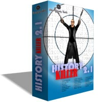 History Killer helps to protect your privacy by removing traces of computer and Internet activities with a single mouse click. Free scan will show you the size of disk space you can free. User-friendly interface and understandable descriptions will help you securely and quickly remove exactly what needs to be removed. History Killer works with Internet Explorer, Firefox Mozilla, Netscape, Opera and Flock web browsers! Files and traces once deleted with History Killer can never be recovered! History Killer also includes more than 180 plug-ins and regular plug-in updates for free.