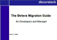 <p>The Btrieve Migration Guide is a well written, praxis oriented book that covers all issues regarding software migration away from Btrieve to a realational database</p>