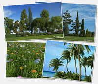 HQ Grass 1, HQ Plants 1 & 2 and HQ Palms 1 BUNDLE for 3DS MAX discount coupon