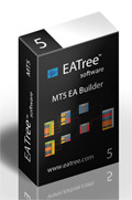 <p> 	EATree MT5 is the first drag and drop expert advisor builder for MetaTrader 5. Although MetaTrader 5's powerful trading language MQL5 is very complex, EATree for MetaTrader 5 makes it so easy to create expert advisors and forex signals in few minutes. You simply connect trading blocks or boxes together to create a layout or a tree of boxes. EATree has a visual color system to guide you through this process. EATree then converts this visual representation of forex trading strategies to a ready to use MetaTrader 5 expert advisor or forex signal. You do not need any programming or even knowledge of the MQL5 trading language during this process.</p> <p> 	We are very confident to state that EATree MT5 is the first and most powerful MetaTrader 5 expert advisor builder on the planet.</p>