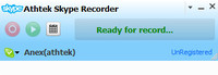 <p> 	AthTek Skype Recorder is the most requisite mate of Skype IM tool. It starts with your Skype, and records Skype calls automatically in high-quality audio files. It comes with a clear interface, you can easily know what to do next if you are using it. The new version of Skype Recorder enables you to automatically upload your recorded audio file to the server. AthTek Skype Recorder is popular with both commercial and private Skype conversations.</p>