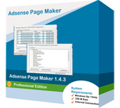 <p>Adsense page maker is software to create adsense pages automatically and upload them to your web server.You simply select categories and Adsense page maker , goes on its own to gather articles and build adsense pages for you to make money on</p>