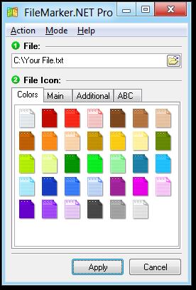Main Window - 2 clicks to change file icon