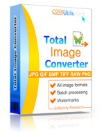 Total Image Converter helps you to convert image sizes and formats. ImageConverter is unique - it supports almost all popular formats (JPG, GIF, BMP, PBM, PGM, PCX, PNG, PPM, TGA, TIF, WMF, EMF and + 50 more formats).