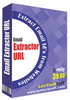screenshot of Email Extractor URL
