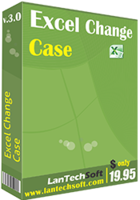 <p> 	Excel Change Case is a useful add-in to Change Case in Excel. It helps you to convert case of the text as Uppercase in Excel , Lowercase in Excel , Title Case in Excel , Sentence Case in Excel just like MS-Word change case. In brief eXcel change case is a change case utility for excel just like ms-word. New Version is compatible with MS Excel 2007 & 2010. It can convert thousands of cells text in a few minutes. Excel does not have an inbuilt Change Case Command Like MS-Word, but this tool can be used as a Change Case command for Excel.</p>