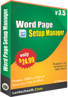 Word Page Setup Manager discount coupon