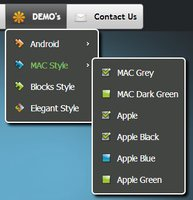 CSS3 Menu for Mac - Single Website License Screen shot