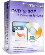<p> 	Tipard DVD to 3GP Converter for Mac can convert DVD video/audio to your mobile phone like Nokia, Motorola, BlackBerry, Sony Ericsson, Samsung which is compatible with the 3GP format. For you can easily convert DVD to 3GP, 3G2, H.264/MPEG-4 AVC.</p>