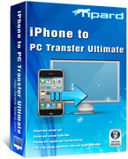 <p> 	Tipard iPhone to PC Transfer ultimate enables you to transfer music/movie/Pictures/TV Shows/Podcast/iTunes U/eBooks/Camera Roll/Ringtone/SMS/Contacts/Call list/Voice memos/Camera shot files from iPhone to PC or iTunes.</p>