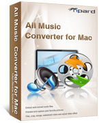 <p> 	Tipard All Music Converter for Mac can extract audio from AVI, MP4, MOV, MKV, WMV, DivX, XviD, MPEG-1/2, 3GP, 3G2, VOB and other popular format and convert them into AAC, AC3, AIFF, AMR, AU, FLAC, MP3, M4A, MP2, OGG, WAV, WMA on Mac.</p>
