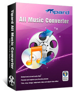 <p> 	Tipard All Music Converter, the best music file converter, can finish the mutual conversion between all popular music formats, including MP3, MP2, AAC, AC3, WAV, MID, RAM, OGG, etc with a few clicks.</p>