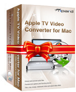 <p> 	Tipard Mac Apple TV Converter Suite would help you convert DVD to Apple TV video MP4, H.264 (.mp4) and Apple TV audio MP3 and AAC, M4A for Mac. What's more, it acts the role of Mac Video to Apple TV Converter, can convert video to Apple TV on Mac.</p>