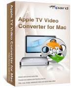 <p> 	Tipard Apple TV Video Converter for Mac would suit your taste, since it can convert almost videos to your Apple TV, including convert MPG, MPEG, MPEG2, VOB, etc on Mac.</p>