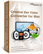 <p> 	Tipard Creative Zen Video Converter for Mac can convert MPG, MPEG, MPEG2, VOB, MP4, M4V, HD videos to Creative Zen MP4, WMV, AVI, MPG video. This Mac Creative Zen Video Converter also can convert audio to audio and extract audio from video to Zen.</p>