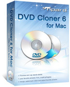 <p> 	Tipard DVD Cloner 6 for Mac can copy DVD to DVD in 1:1 ratio and compress DVD 9 to DVD 5 in high quality with lossless quality. Moreover, it can also copy DVD to DVD folder or ISO image file for your backup.</p>