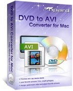 <p>Tipard DVD zu AVI Konverter für Mac kann DVD zu AVI Mac konvertieren, konvertieren Sie DVD in AVI h. 264, DivX, XviD, MPEG-1, MPEG-2-Video und HD AVI, DivX HD, XviD HD, HD MPEG2-PS, MPEG2-TS HD auch DVD Audio in AAC, AC3, MP3, M4A, MP2, WAV extrahieren.</p>