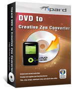<p> 	This professional DVD to Creative Zen Converter gives you the capacity to convert DVD to Creative Zen AVI, MPG, MP4 video format and Creative Zen music MP3, M4A, WMA, WAV. Plus, with NVIDIA® CUDA™ technology, the converting speed is 6X faster now.</p>