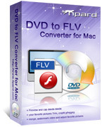 <p> 	Tipard DVD to FLV Converter for Mac is a professional Mac DVD to FLV Converter and specially designed for Mac users. With it, you can make it easy to convert your favorite DVD to FLV, SWF videos for you sharing on YouTube, Google Video, Myspace, etc.</p>