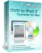 <p> 	Tipard DVD to iPad 2 Converter for Mac can help you rip any DVD to iPad compatible formats. Also you can extract audio from any DVD and convert it to iPad audio format. Apart from the converting function, it provides you with useful editing function.</p>