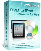 <p> 	Tipard DVD to iPad Converter for Mac can help you convert any DVD to iPad MPEG-4, H.264/MPEG-4 AVC, MOV, M4V formats. Also, you are allowed to extract audio and convert DVD to AAC, MP3, WAV, AIFF, M4A audio formats.</p>