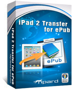 <p> 	Tipard iPad 2 Transfer for ePub can help you easily transfer your ePub file from PC to iPad 2. Moreover, this powerful iPad 2 Transfer for ePub also enables you to export your iPhone 2 ePub to PC for backup in case of files missing.</p>