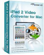 <p> 	Tipard iPad 2 Video Converter for Mac can convert almost all videos, extract audio from any video and convert audio to iPad 2 audio formats. Also, it can extract audio from any video and convert audio to iPad 2 audio formats.</p>