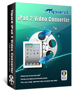 <p> 	Tipard iPad 2 Video Converter can easily convert various video files, even HD video to iPad 2 compatible vidoe or audio formats. In addition, it has versatile video editing functions, users can easily trim, crop, merge and watermark video, etc.</p>