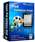 <p> 	Tipard iPad Software Pack, the most professional iPad software, integrates: DVD to iPad Converter, iPad Video Converter, iPad Transfer Pro, iPhone Ringtone Maker, and iPhone Manager for SMS.</p>