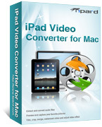 <p> 	Tipard iPad Video Converter for Mac is specially designed for Mac user, it can help you convert any popular video format to iPad compatible format. It also has been updated to support iPhone 4, iPhone OS 4.0 and iPad 2 now.</p>