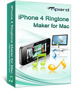 <p> 	Tipard iPhone 4 Ringtone Maker for Mac, the best Mac iPhone 4 Ringtone Maker, can convert almost all mainstream video/audio, such as MPEG, WMV, MP4, MPEG, XviD, MOV, RM,AAC, WMA, MP3, etc. to iPhone 4 ringtone on Mac.</p>