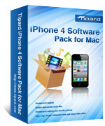 <p> 	Tipard iPhone 4 Software Pack for Mac, including DVD to iPhone 4 software, Mac iPhone 4 Video Converter,Mac iPhone 4 Transfer Pro and iPhone 4 Ringtone Maker for Mac, is all-in-one software pack.</p>