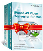 <p>Tipard iPhone 4S Converter Suite para Mac paquetes iPhone 4S Video Converter para Mac y DVD a iPhone 4S Converter for Mac juntos como un solo producto. Con él, puede copiar tus DVDs y vídeos favoritos a tu iPhone 4S MP4, MOV, formatos de vídeo H.264.</p>