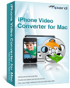 <p>Tipard iPhone Video Converter for Mac contiene la función para convertir MPG, MPEG, MPEG2, VOB, MP4, M4V, RM, RMVB, MPG HD, etc, iPhone MP4, MOV, H.264(.mp4) en Mac. Y extraer archivos de audio de todos los formatos populares de vídeo a MP3, M4A, AAC, WAV, AIFF.</p>