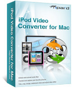 <p> 	Tipard iPod Video Converter for Mac can convert almost all video formats to iPod, iPod touch, iPod touch 2, iPod touch 4, iPod nano 4, iPod classic, iPod shuffle, iPhone, iPhone 3G and iPhone 4 MP4, MOV and H.264(.mp4), video formats for Mac users.</p>