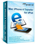<p> 	Tipard Mac iPhone 4 Transfer for ePub is the most professional iPhone 4 ePub Transfer for Mac to transfer ePub files from Mac to iPhone 4 and from iPhone 4 to Mac.</p>