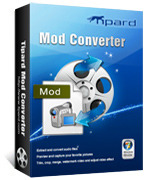 <p> 	Tipard MOD Converter is a powerful Mod converter to convert MOD,TOD, MPEG, MPG, MPV, MP4, VOB files to the popular video formats: MP4, MPG, MOV, VOB, AVI, 3GP, FLV, HD H.264, HD WMV, HD AVI, etc. It can also extract audio from MOD and TOD video.</p>