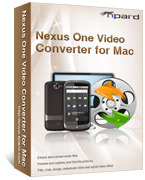 <p> 	Tipard Nexus One Video Converter for Mac can convert any video including HD video and any other video such as FLV, SWF, AVI, WMV, RM to Nexus One Video H.264, MP4. It can also convert video for Nexus One audio MP3, AAC+, Ogg, WAV, MIDI.</p>