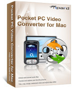 <p> 	Tipard Pocket PC Video Converter for Mac can convert video for Pocket PC Mac. And all the popular videos can be played on all types of Pocket PC, such as General Pocket PC, HP iPAQ, Dell Player, Dell Aixmi, even the devices of BlackBerry.</p>
