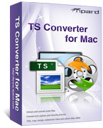 <p> 	Tipard TS Converter for Mac converts TS file to AVI/MPG, WMV, FLV, SWF, MOV and all the popular video formats on Mac. With it, it's easy to get music from your TS video and other files, or from MP3, MP2, AAC, AC3, WAV, WMA, M4A, RM, etc audio files.</p>