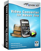 <p> 	Tipard Video Converter for Nexus One is the most powerful and easy-to-use video converter for Google phone. It can convert HD videos, FLV, VOB, MOD, MP4, etc. to Nexus One Google Phone video formats like MP4 and H.264 video formats.</p>