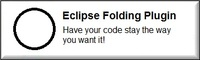 Eclipse Folding Plugin Personal Screen shot