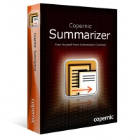 <p><strong>Copernic Summarizer</strong> : FREE Yourself from Information Overload</p> <p>Copernic's easy-to-use summarizing software dramatically increases your productivity and efficiency by creating concise document summaries of any file or Web page!</p>