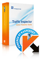 "<p style=""text-align: justify;""> 	The package contains an integrated gateway solution for Traffic Inspector and a module for antivirus protection Kaspersky Gate Antivirus, which was developed in partnership with Kaspersky Lab, an international data-security software-development company. Together these two programs provide Internet users with network access control, antivirus protection, monitoring and diagnostics, speed control, load balancing and network security.</p> <p style=""text-align: justify;""> 	 </p>"